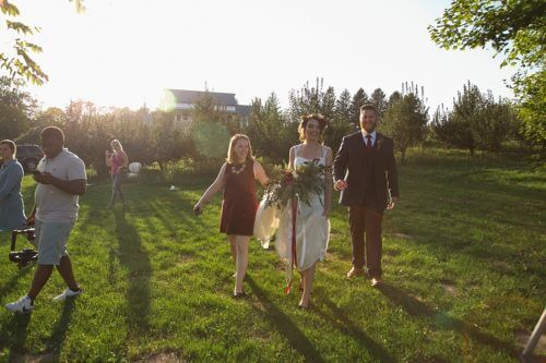 Behind the Scenes Modern Boho Orchard Wedding