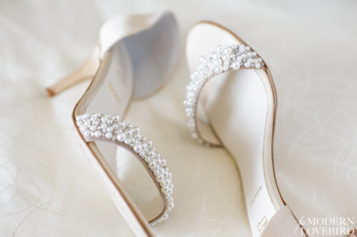 Bride's shoes. Photo credit: The Modern Lovebird