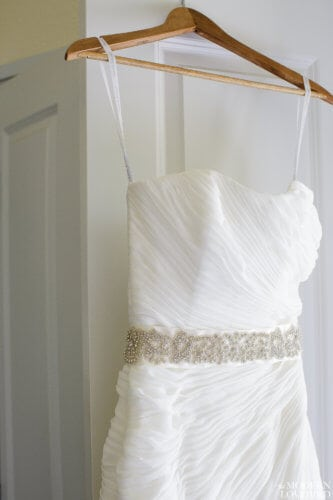Dress on hanger. Photo credit: The Modern Lovebird