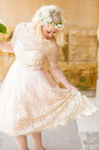 Short Lace Dress. Photo credit: The Modern Lovebird