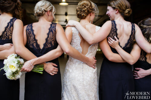 Bride & friends. Photo credit: The Modern Lovebird